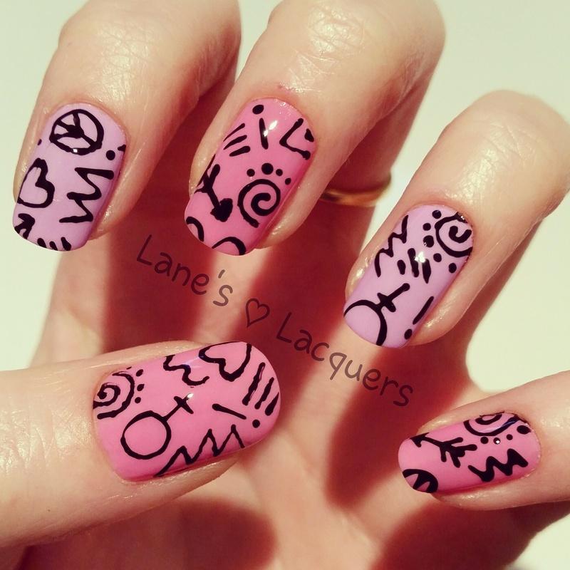 Down Town nail art by Rebecca