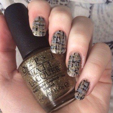 Neutral Tweed nail art by allwaspolished