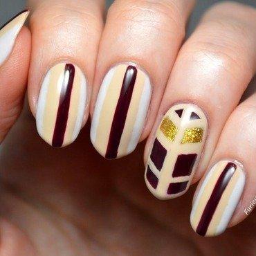 Art Deco  nail art by Furious Filer