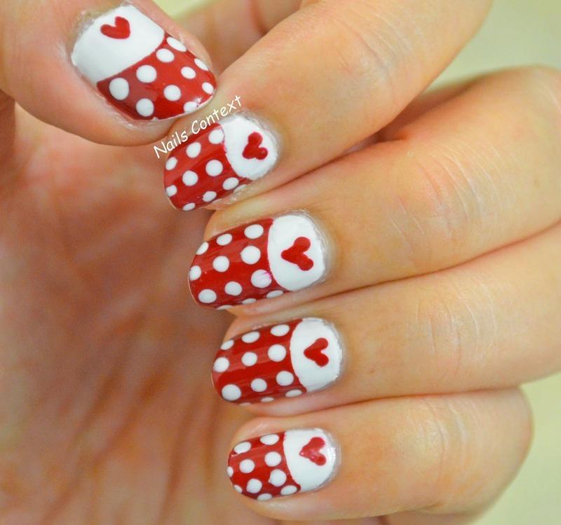 Valentines Day nail art by NailsContext