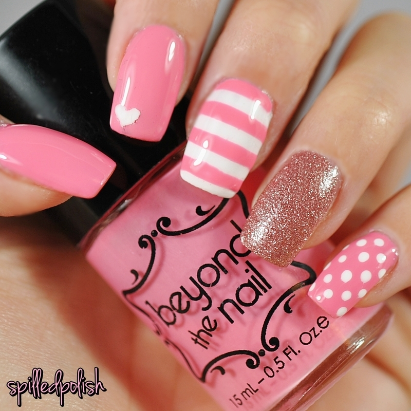 Valentine's Day Mix nail art by Maddy S