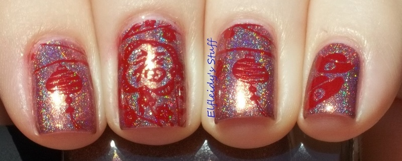 Stamping Sunday 2-15-2015 nail art by Jenette Maitland-Tomblin