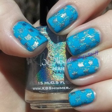 Blue on blue nail art by Jenette Maitland-Tomblin