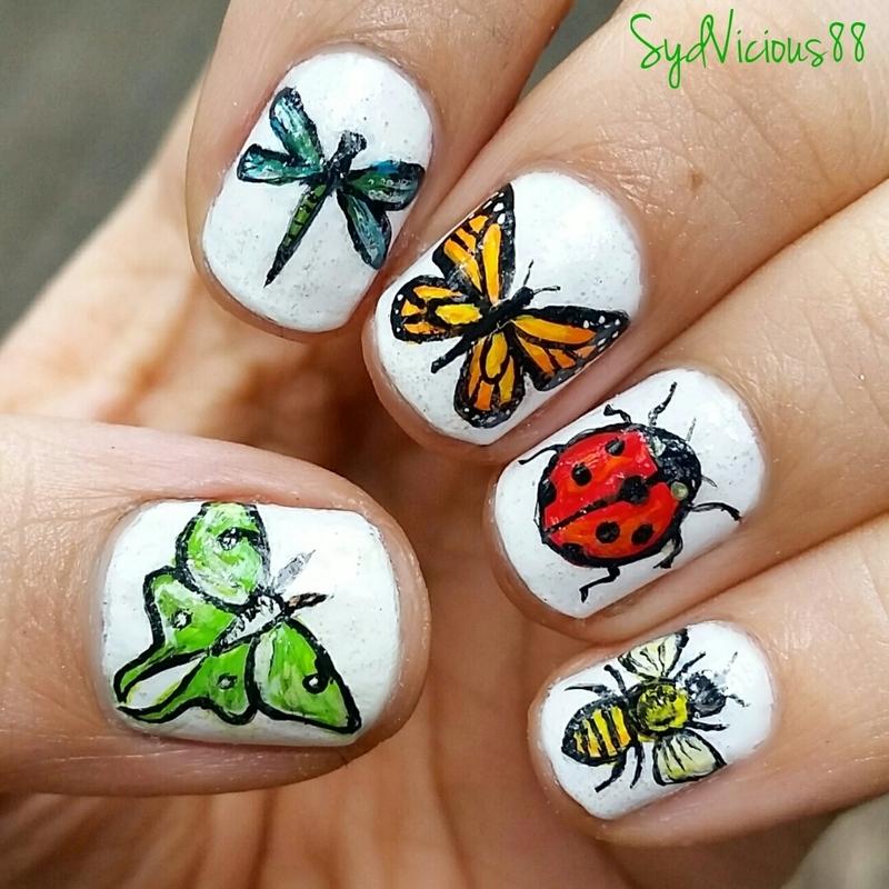 Bugs!  nail art by SydVicious