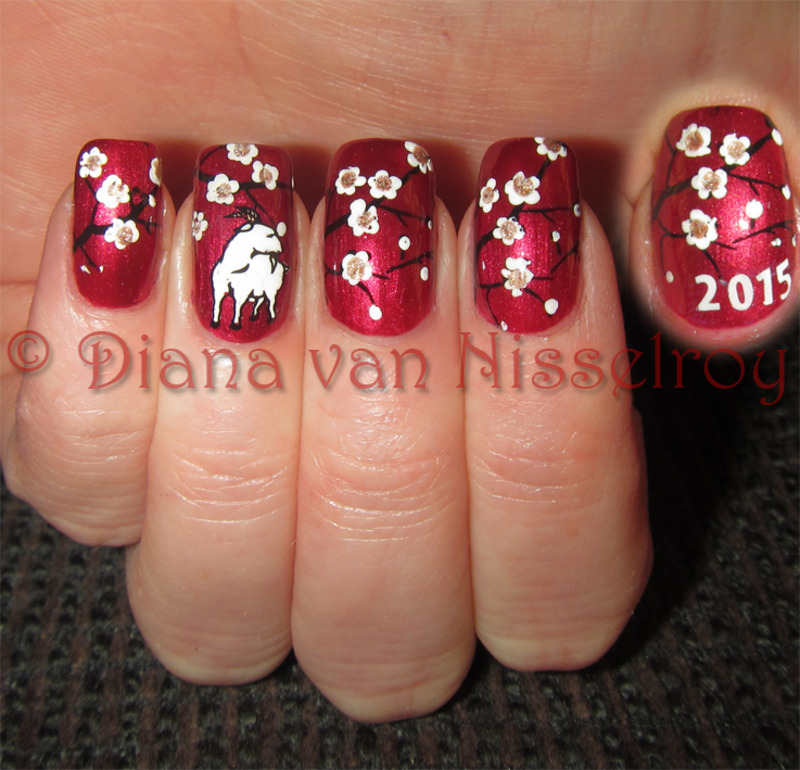 Chinese new year the year of the goat nail art by diana van chinese new year the year of the goat nail art by prinsesfo Choice Image