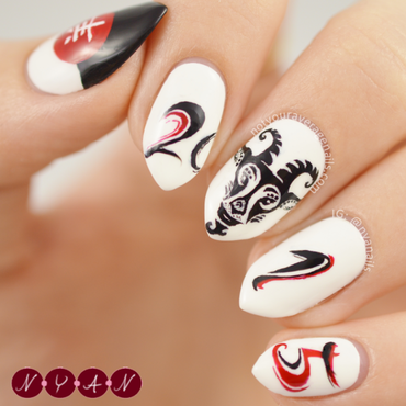 Year of the Goat nail art by Becca (nyanails)