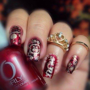 Chinese New Year's Nails nail art by Debbie