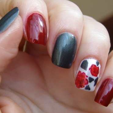 Valentine's day  nail art by Szilvia