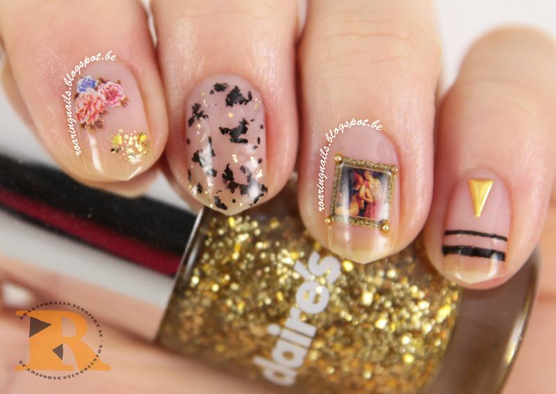 Fancy Negative Spaces nail art by Robin