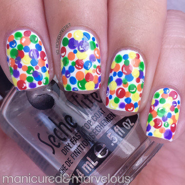 Candy Gumball Nail Art nail art by Rose Mercedes