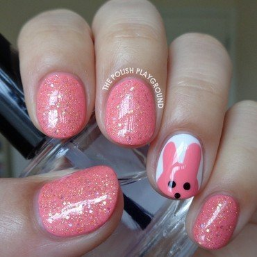 Tony Moly Petite Bunny Gloss Bar Inspired Nails nail art by Lisa N