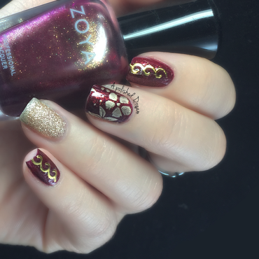 Lunar New Years nail art by Amey
