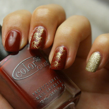 Chinese New Year skittlette nail art by Stephanie L