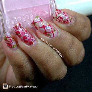 Hearts nail art by Pearl P.