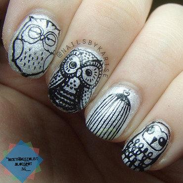 Bornprettystore qgirl 036 owl stamping thumb370f
