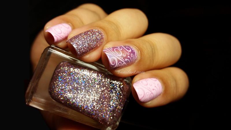 Monochrom... so many texture! nail art by OnailArt