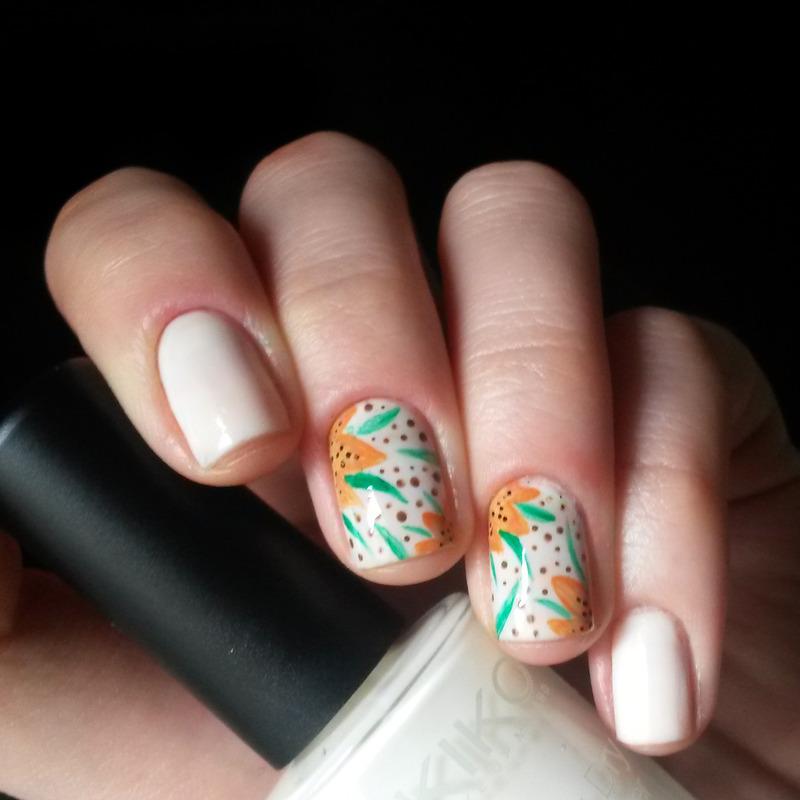 tiger lillies nail art by marina