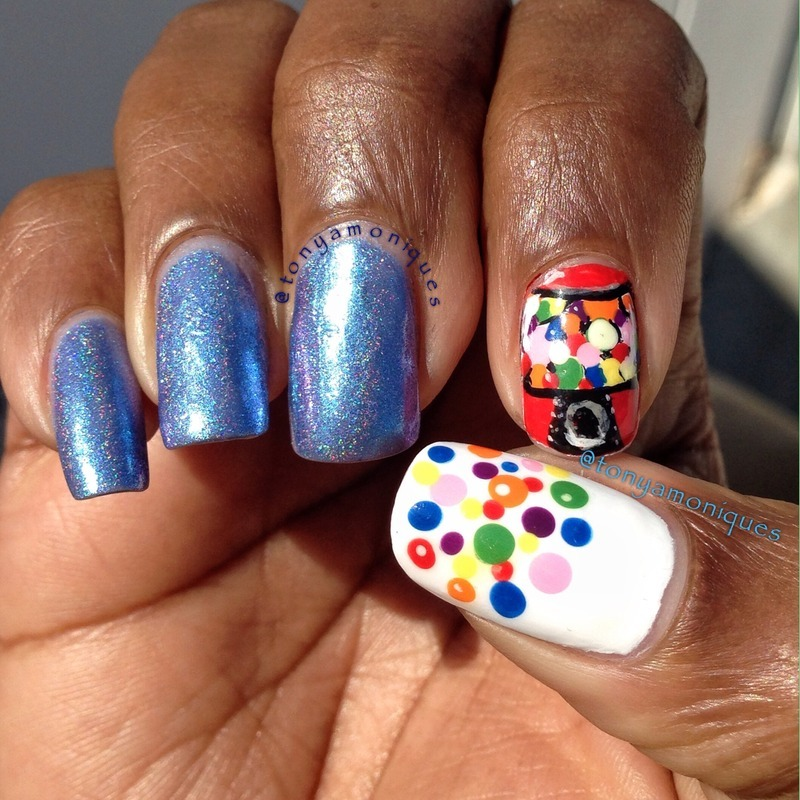 Gum ball nail art by Tonya Simmons