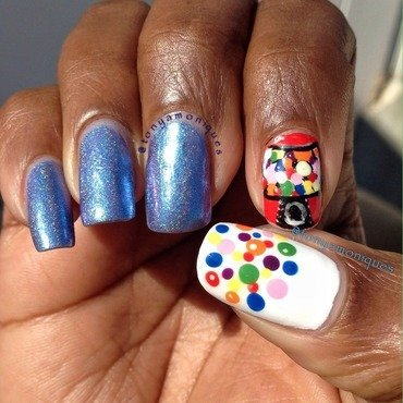 Gum ball nail art by Tonya Simmons