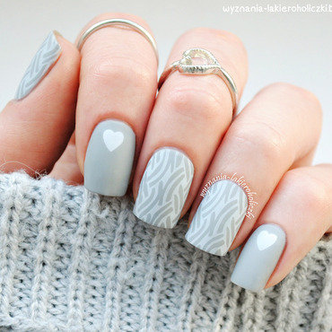 Sweater ♥ nail art by Olaa