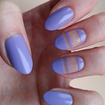 Negative Space Manicure nail art by Mgielka M
