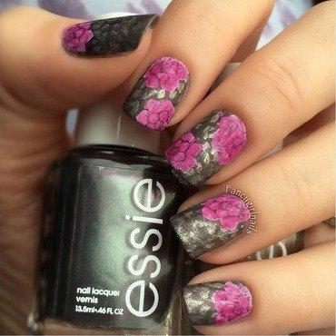 Winter Rose nail art by Anna-Maria D