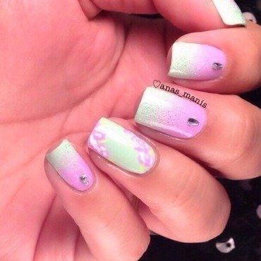 Pastel gradient nail art by anas_manis