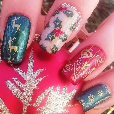 X-Mas Manicure 2014 nail art by Lady Nailpolish Nathalie