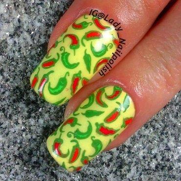 Hot Chili Pepper Manicure nail art by Lady Nailpolish Nathalie