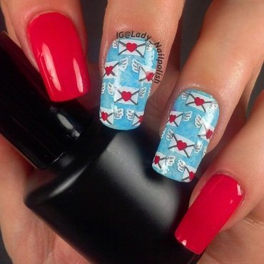 CICI&SISI 09 Love Letters for Valentines Day Manicure nail art by Lady Nailpolish Nathalie