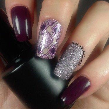 Venetian Carnival Rhombuses Manicure nail art by Lady Nailpolish Nathalie