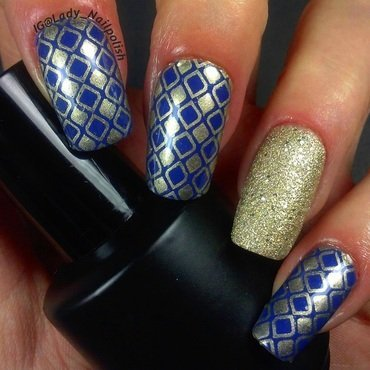 Harlequin Manicure nail art by Lady Nailpolish Nathalie