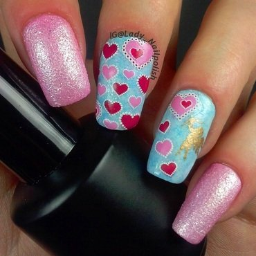 "DRK - D , Cheeky Jumbo 3 ""Happy Birthday Lillibit!"" nail art by Lady Nailpolish Nathalie"