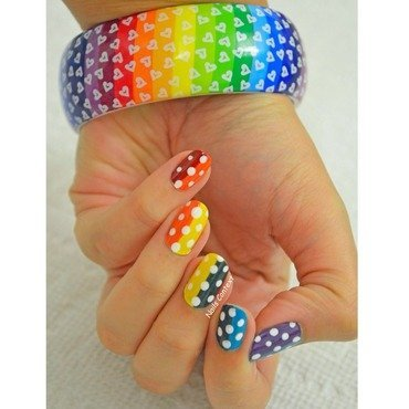 Rainbow Love nail art by NailsContext