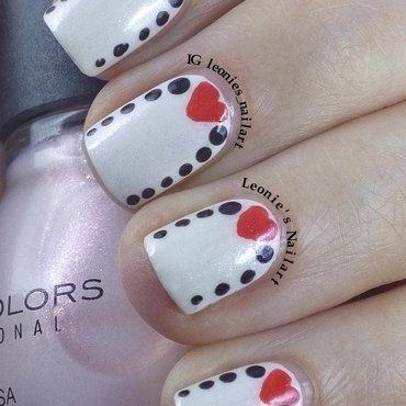 Valentine Ruffian nail art by Leonie