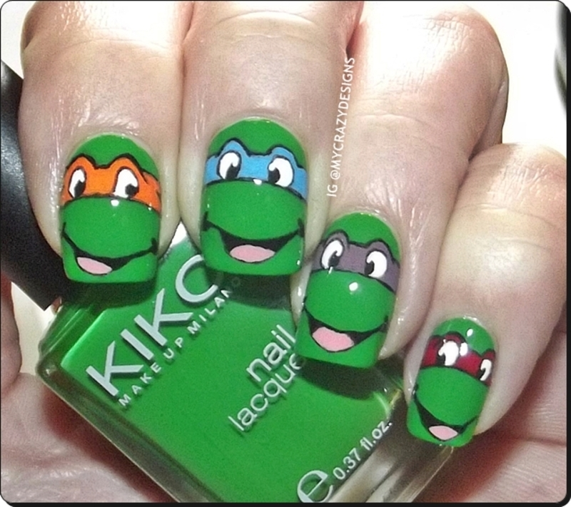 Ninja Turtles nails nail art by Mycrazydesigns - Nailpolis: Museum ...