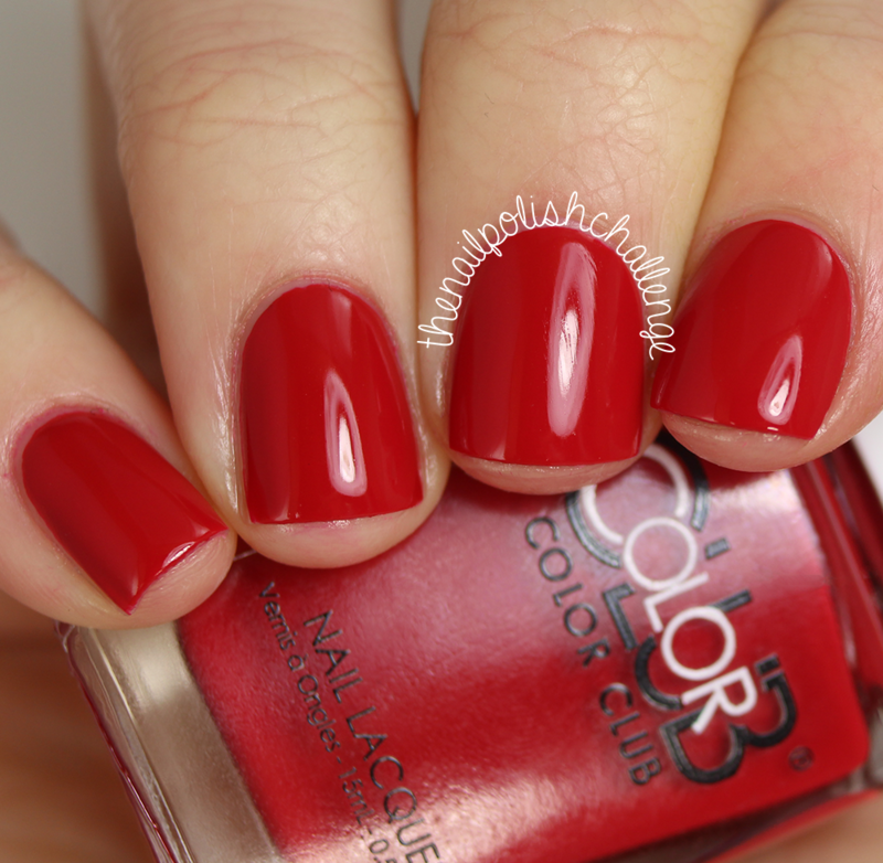 Color Club Red-Handed Swatch by Kelli Dobrin