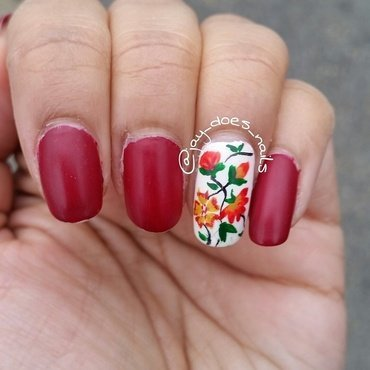 Taste of Floral nail art by Jaya Kerai