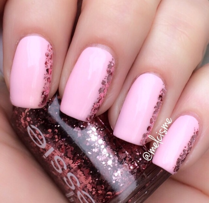 Pink on pink  nail art by Melissa