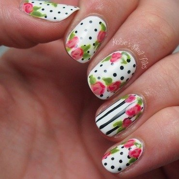 Freehand Nail Art inspired by NCLA nail wraps nail art by Kelsie