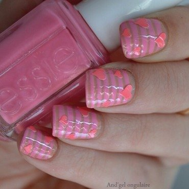 Nailstorming St Valentin  nail art by And'gel ongulaire