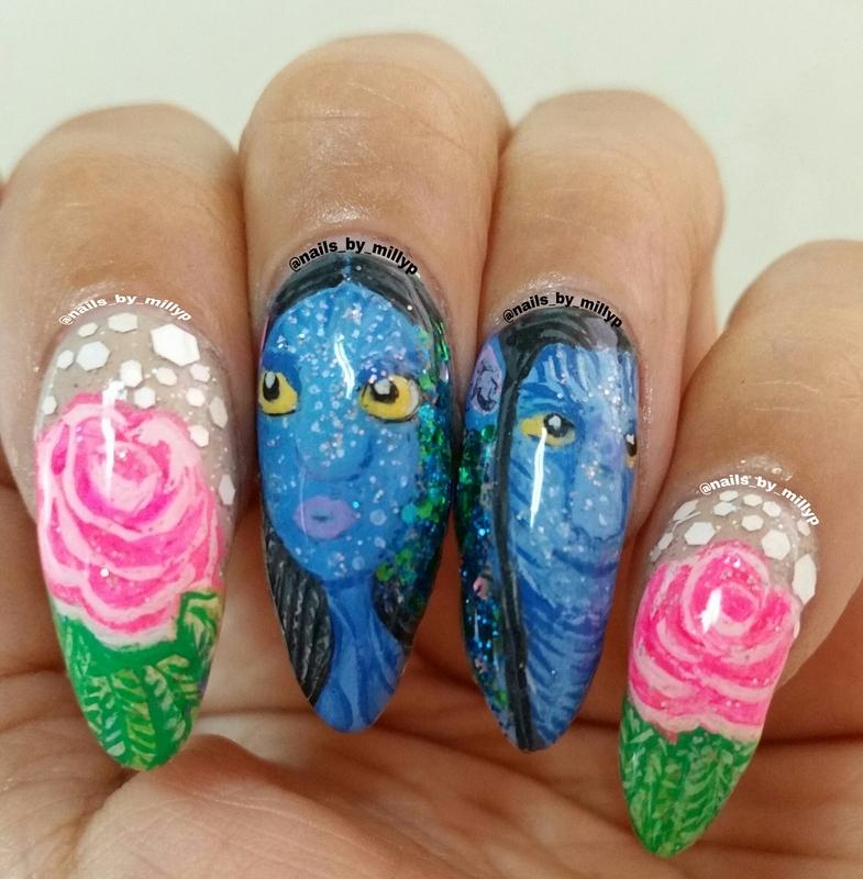 Avatar Nail Art By Milly Palma Nailpolis Museum Of Nail Art