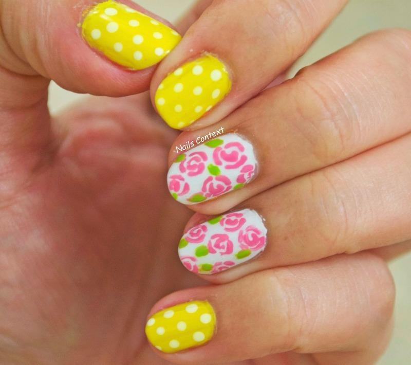 Pink Roses nail art by NailsContext