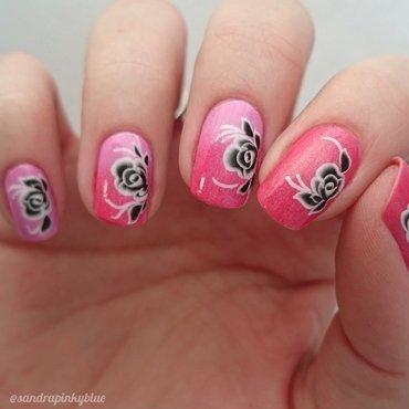 Pink love nail art by Pinkyblue Nailart