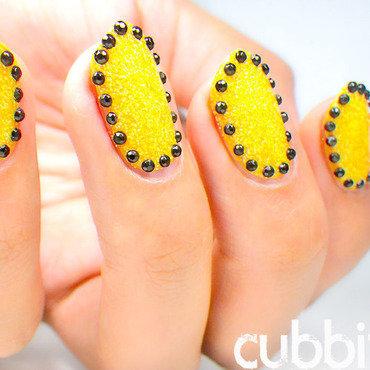 Black rhinestones glitter nails thumb370f