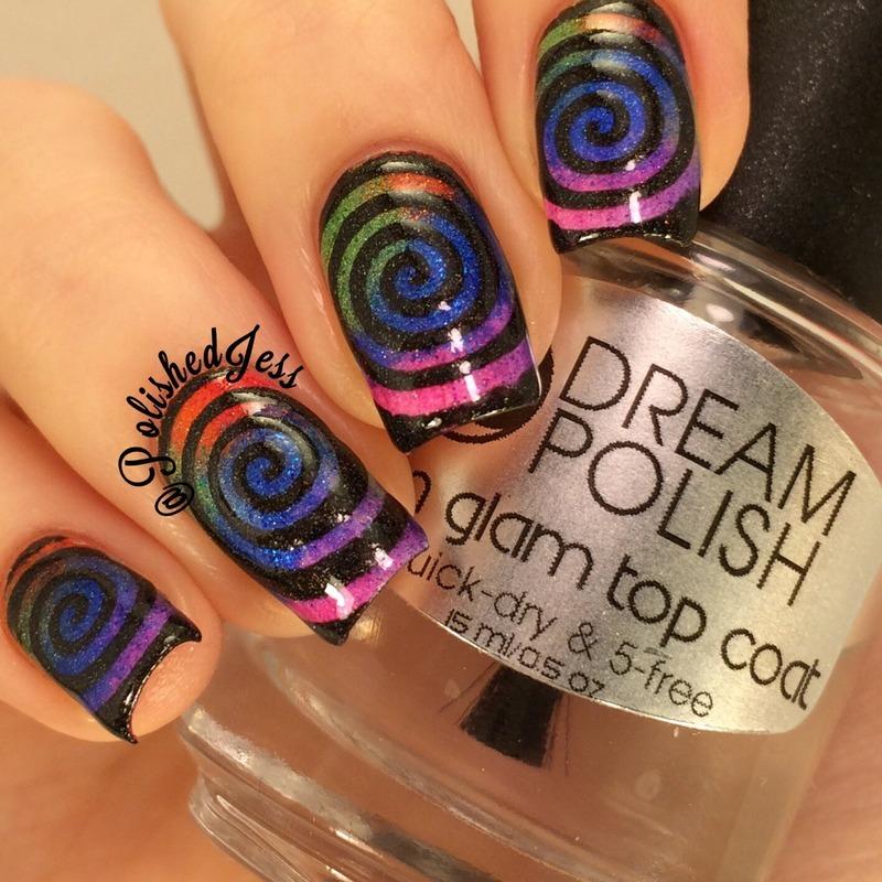 Hypnotized  nail art by PolishedJess