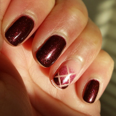 Criss-cross Gradient nail art by kitalovessm