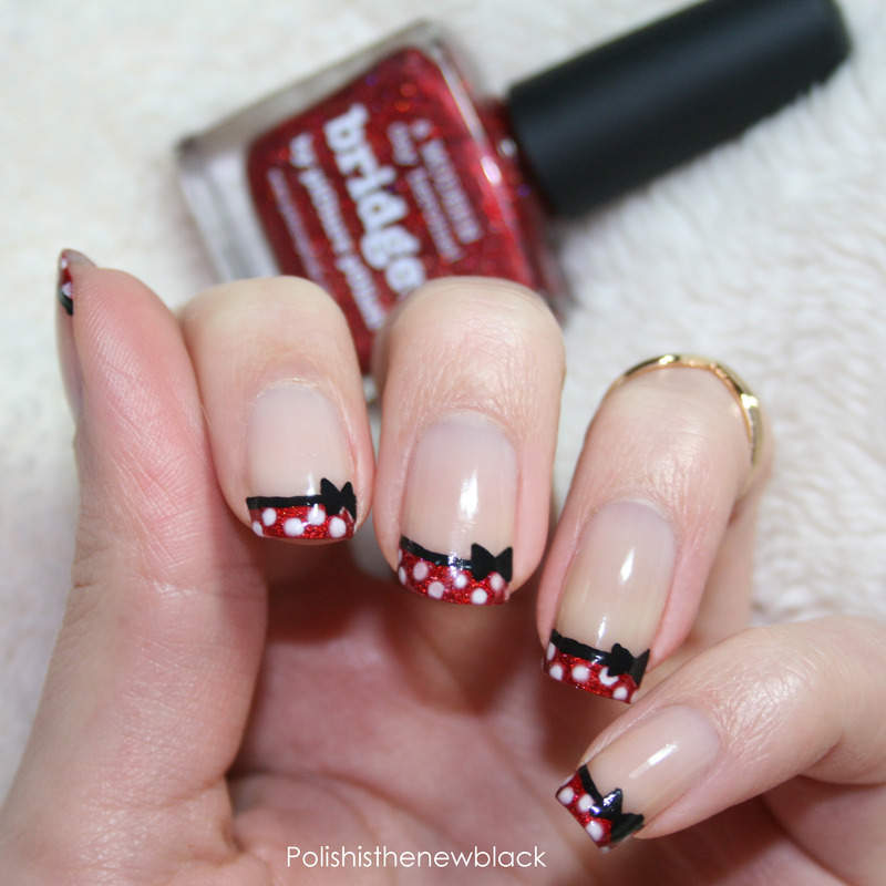 Minnie mouse french tips nail art by polishisthenewblack minnie mouse french tips nail art by polishisthenewblack prinsesfo Choice Image
