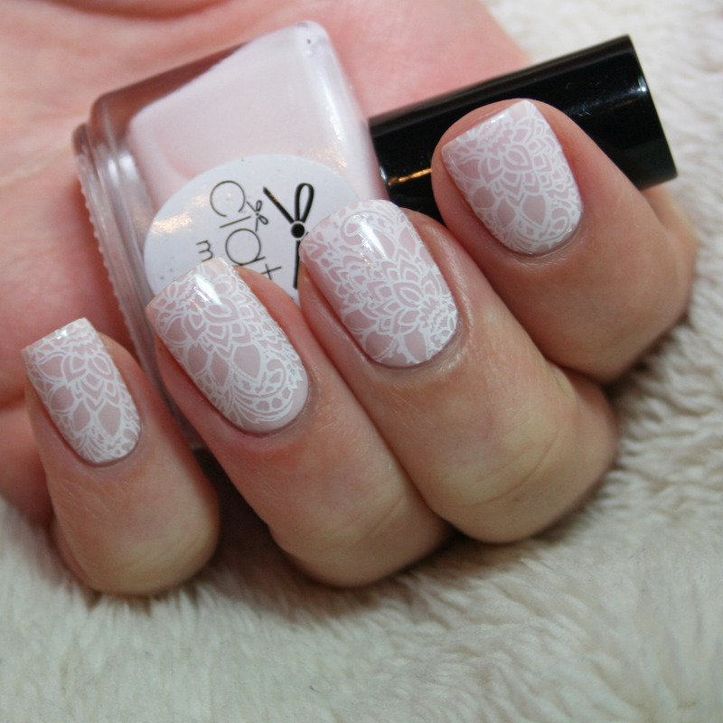 Lace nail art by Polishisthenewblack