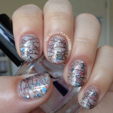 Holographic 20and 20glittery 20base 20with 20black 20pattern 20stamping 20nai 20art thumb370f